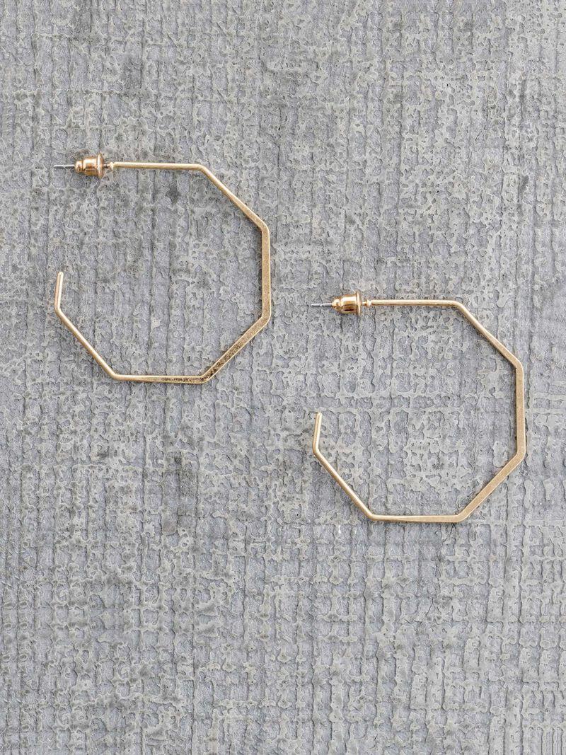Marlyn Schiff Hexagon Hoop image number 0