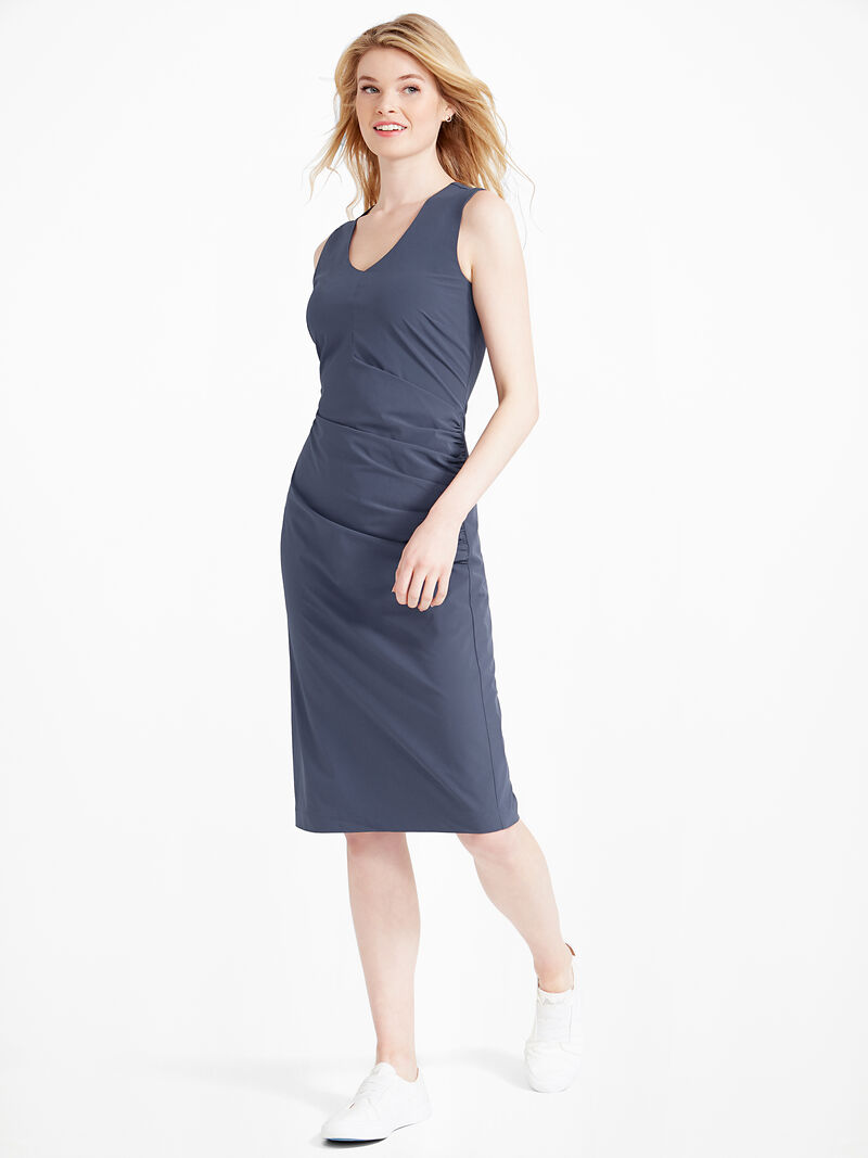 Tech Stretch Ruche Dress