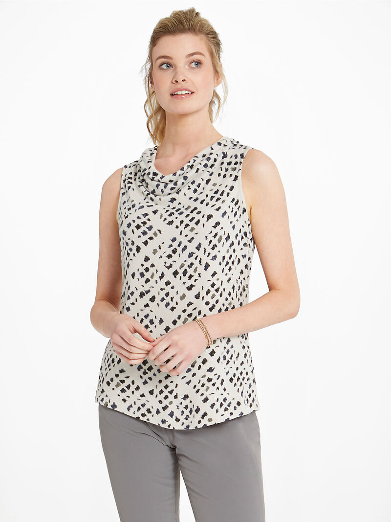 Abstract Check Drape Tank