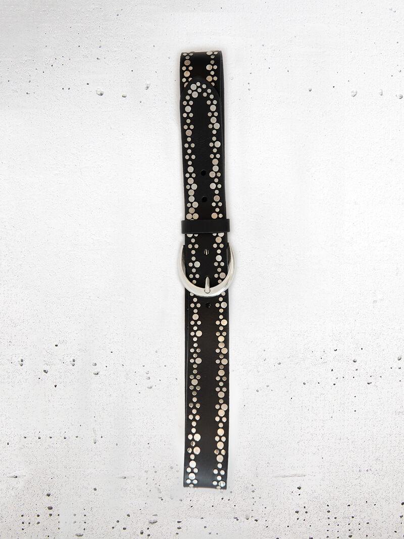 B.Belt - Studded Leather Belt image number 1