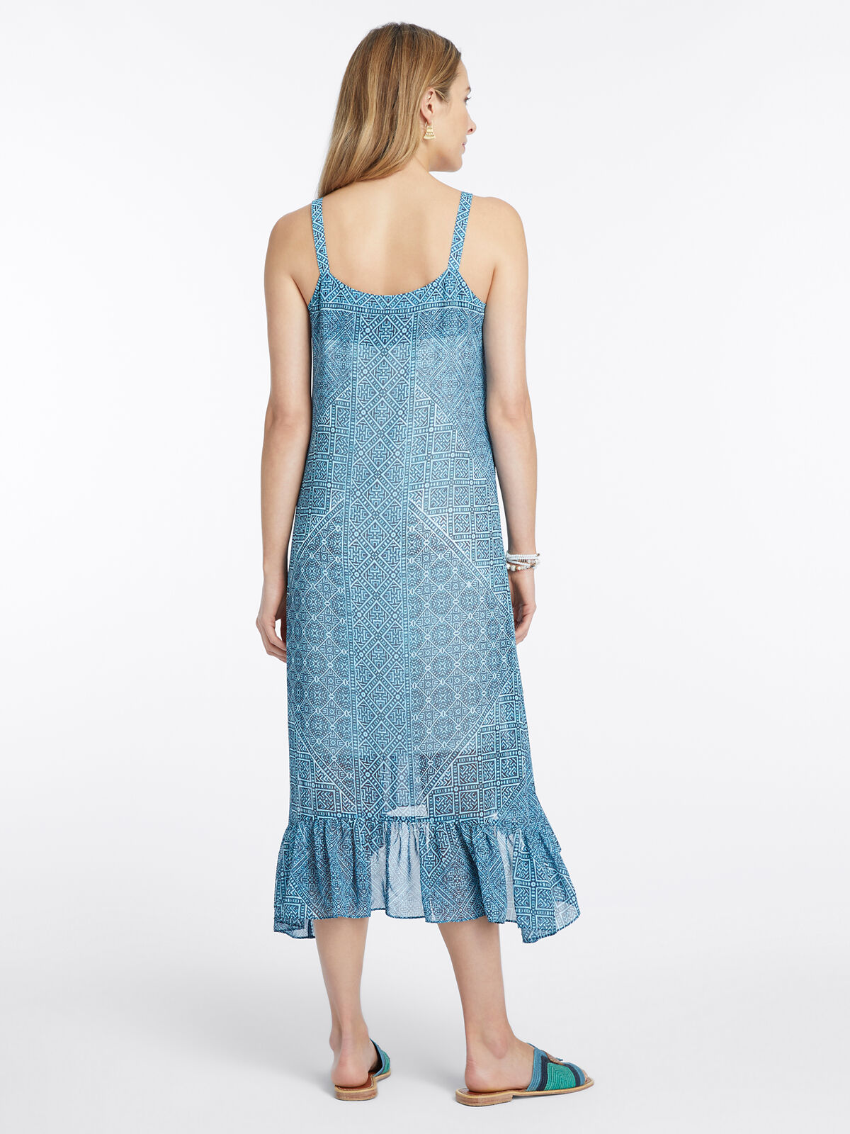 Santorini Tiles Dress
