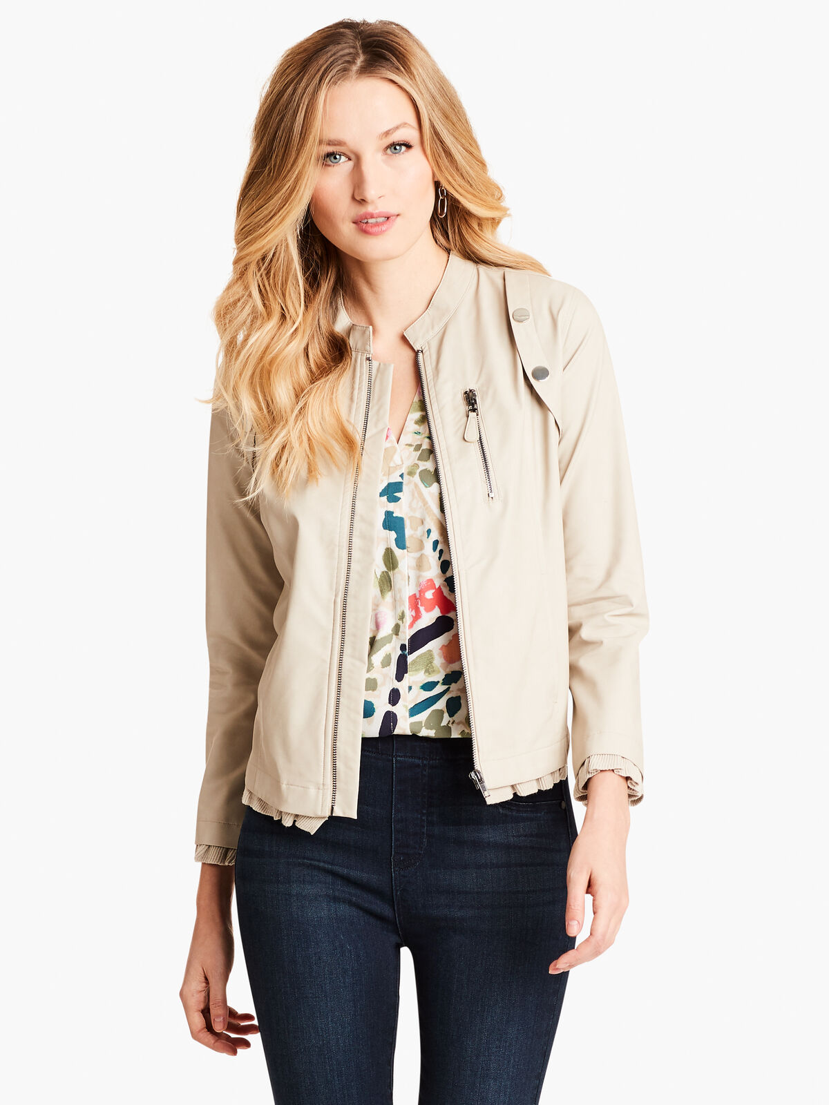 Femme Faux Leather Jacket