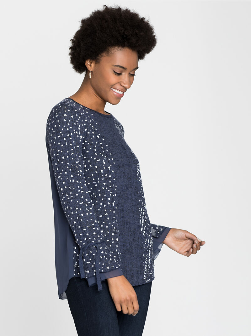 Dotted Line Cuffed Top image number 1