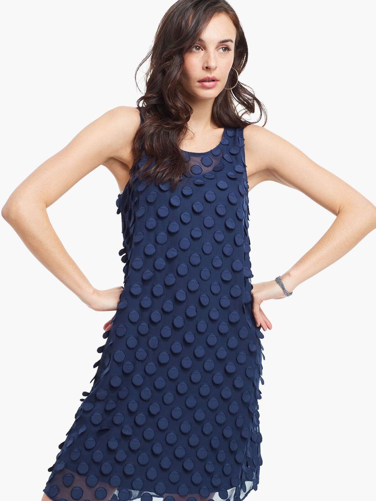 Chiffon Dot Dress
