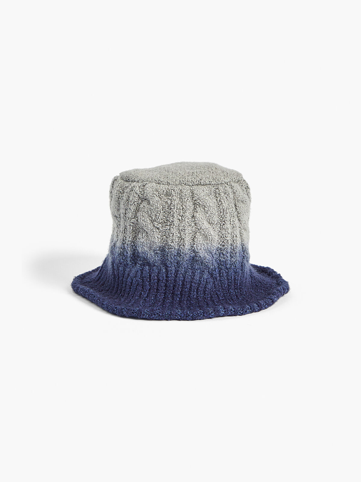 Dip Dye Cable Knit Hat