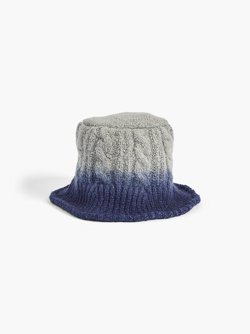 Dip Dye Cable Knit Hat image number 0