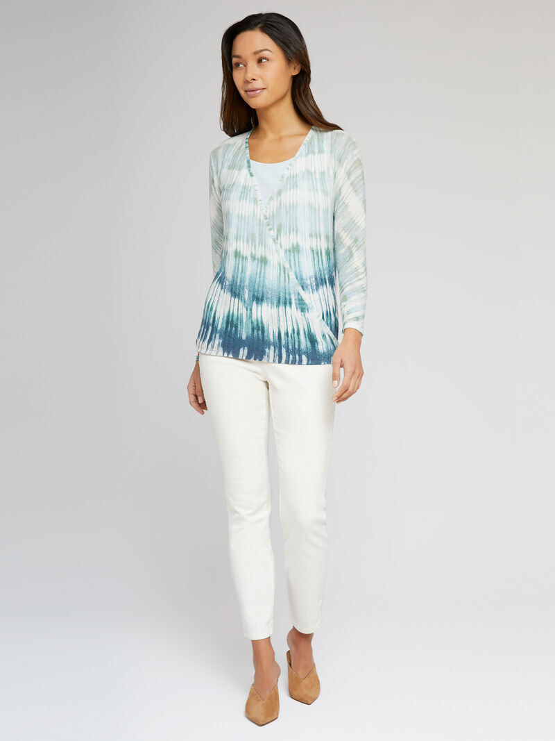 Ombre Sea 4-Way Cardigan image number 3