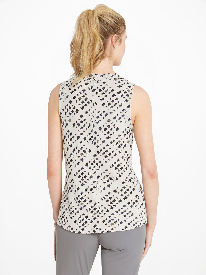 Abstract Check Drape Tank image number 2
