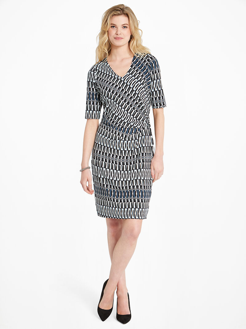 Batik Stripe Twist Dress