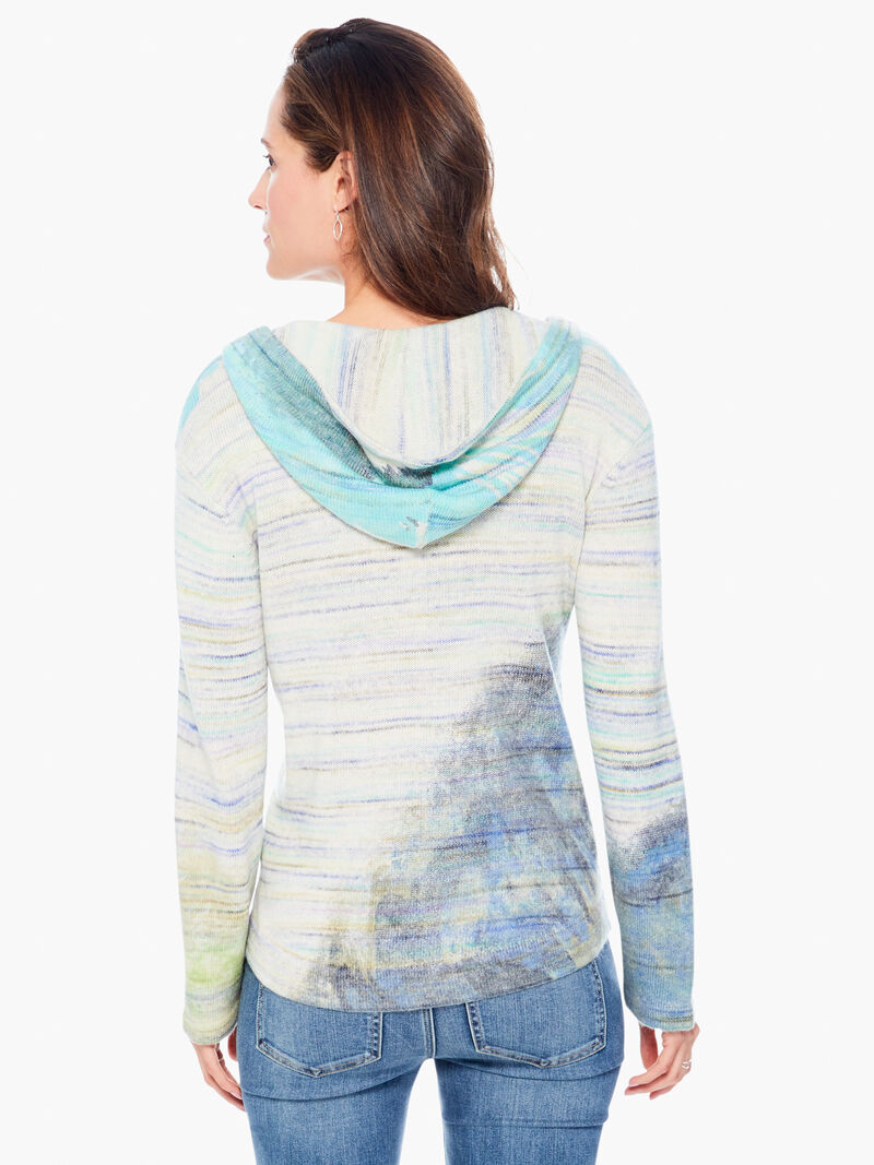 Watercolor Hooded Sweater image number 2