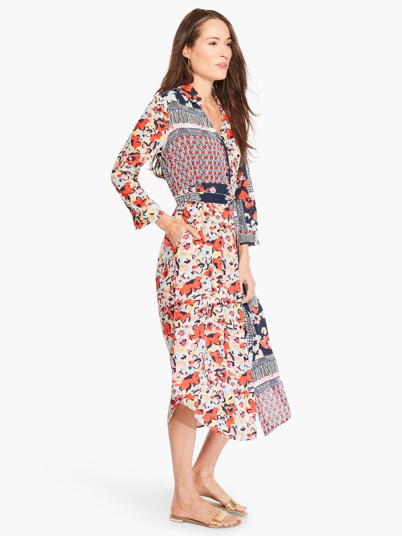 Mixed Up Blooms Shirt Dress image number 2