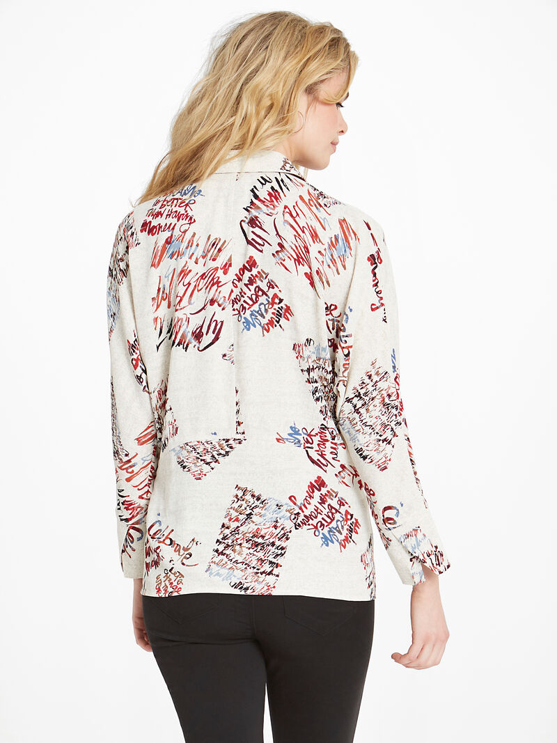 Scattered Letters Blouse image number 2