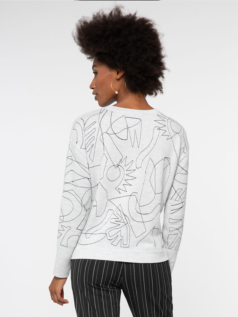 EMBROIDERED SWEATER image number 2