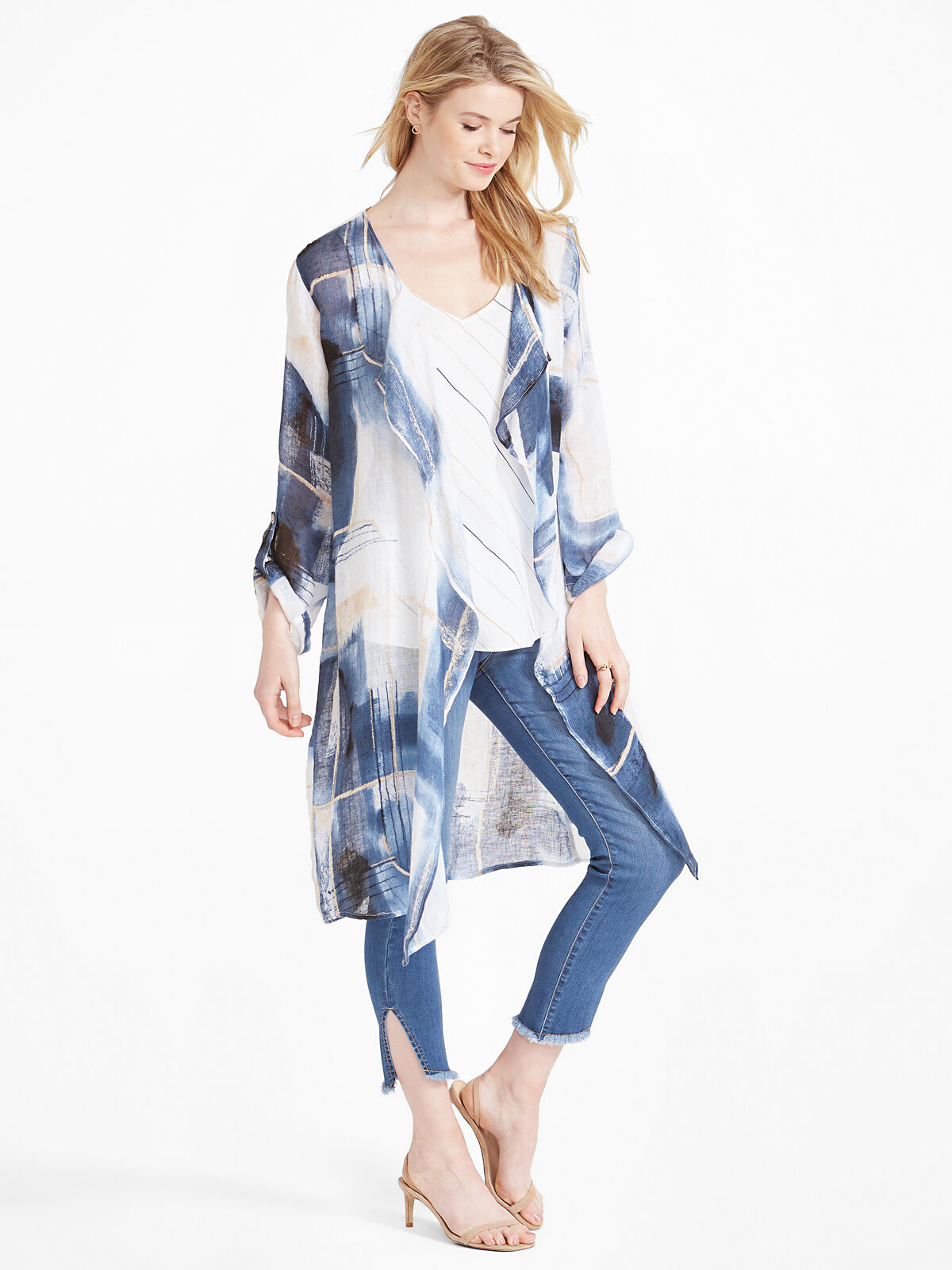 Abstract Grid Cardigan