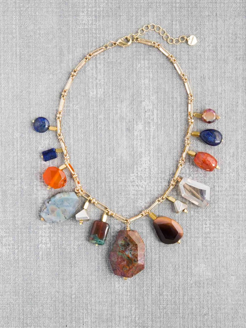 Nakamol  Multi Color Stone Statement Necklace