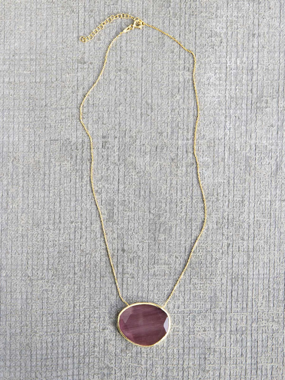 Marlyn Schiff Sterling Glass Necklace