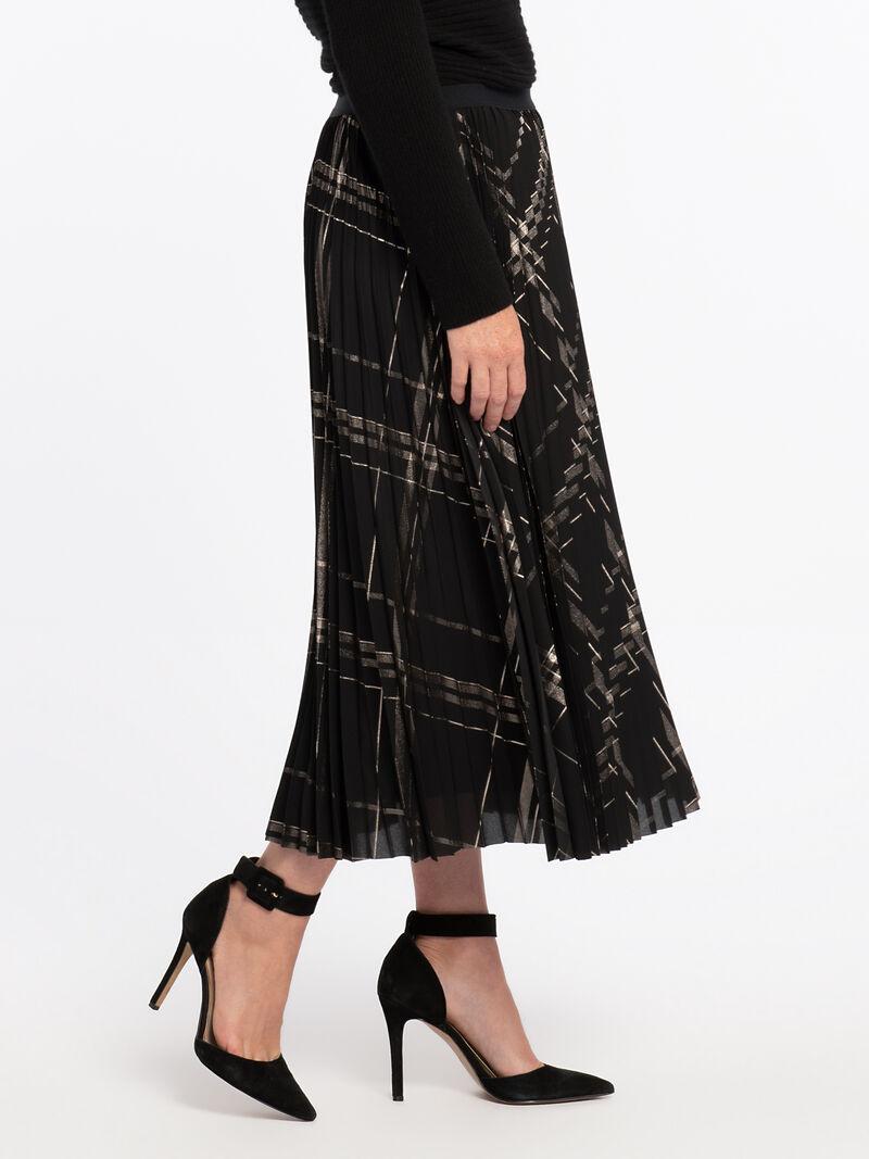 Pleated Plaid Skirt image number 2