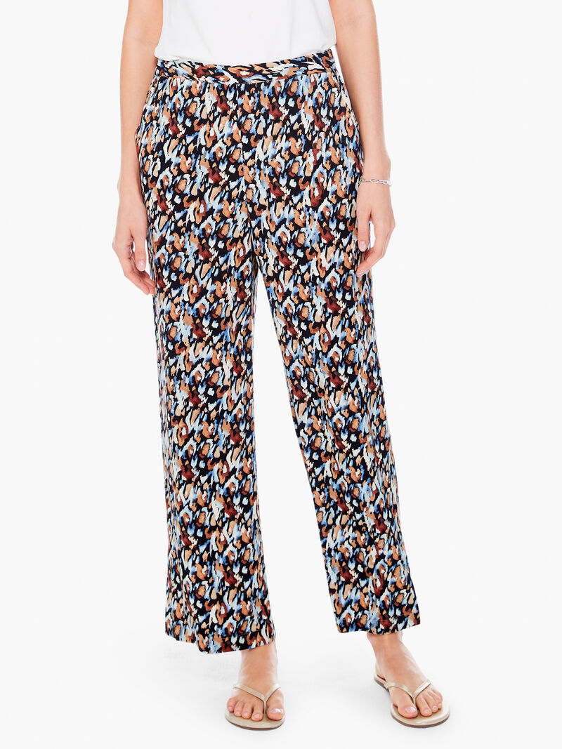 Painted Leopard Printed Pant