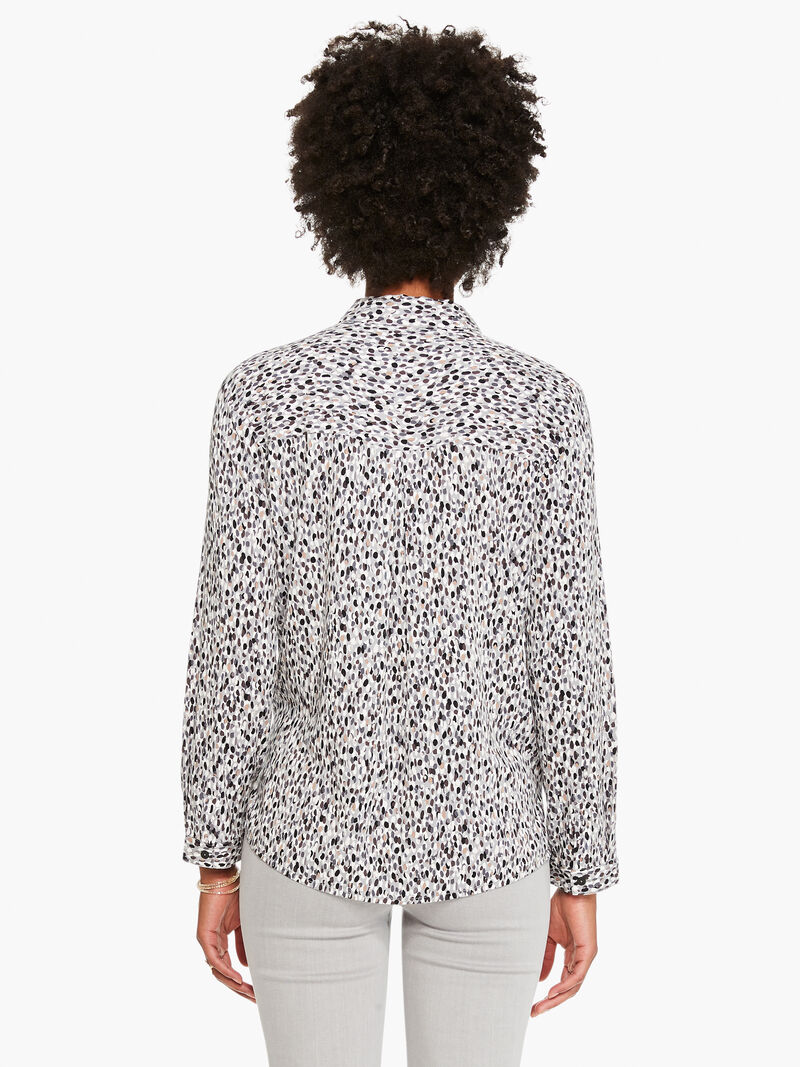 Textured Spot Live In Shirt image number 2
