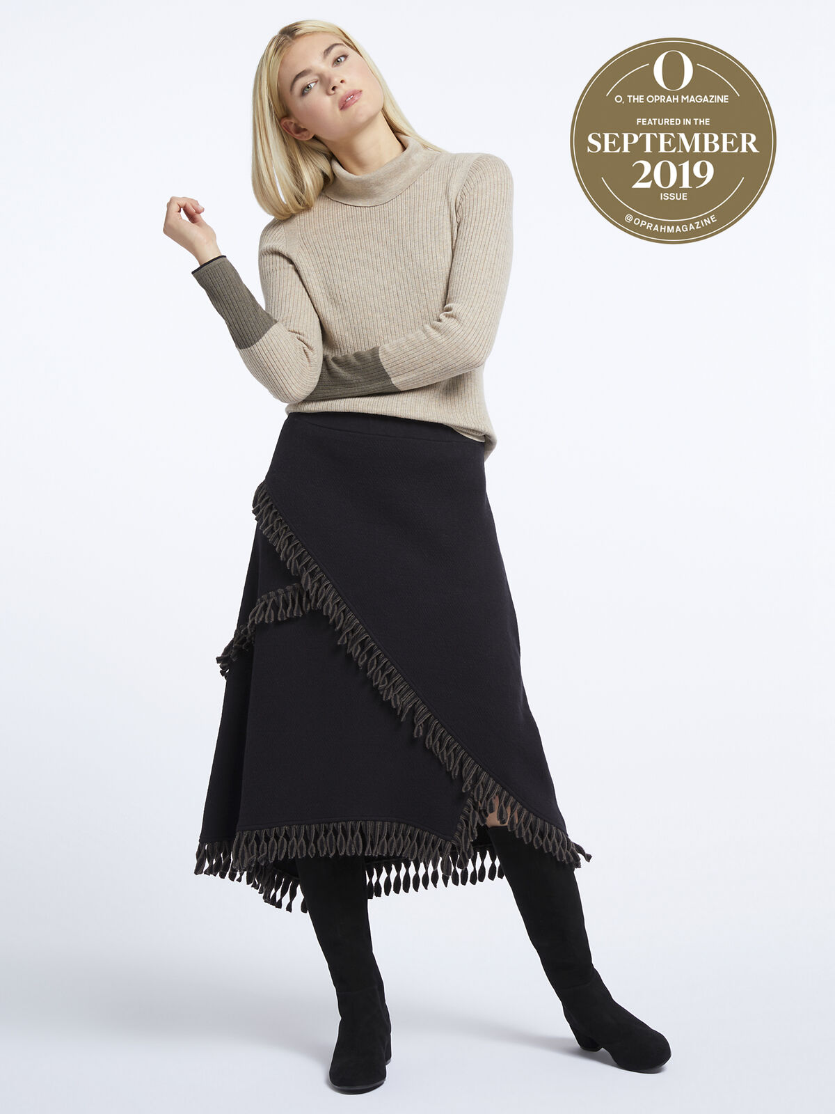 Fringe Trim Skirt