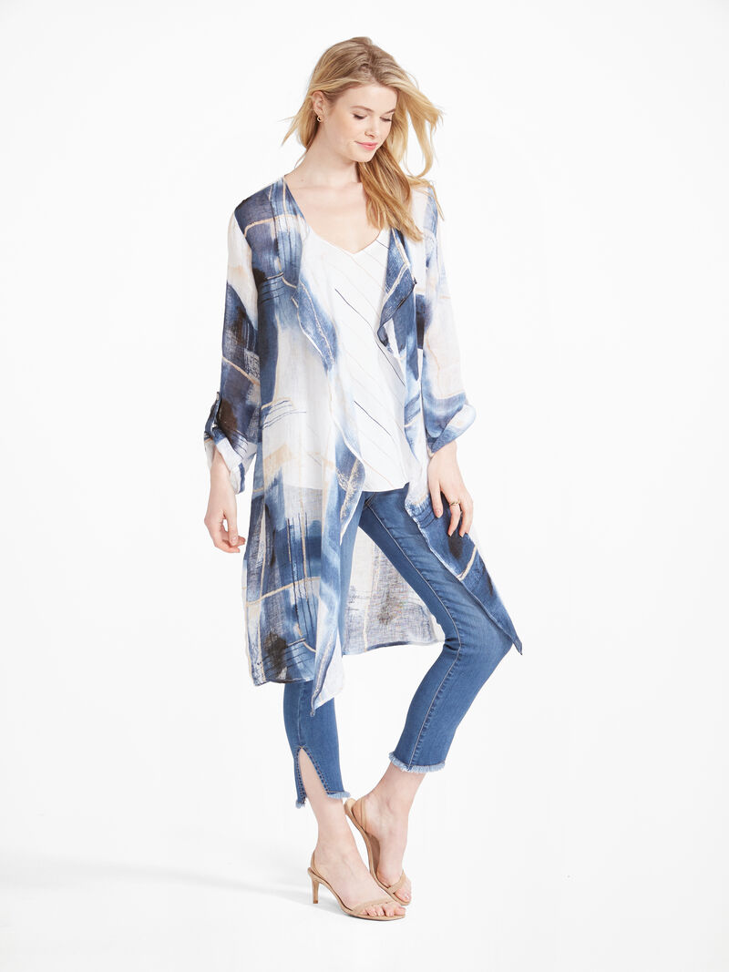 Abstract Grid Cardigan image number 2