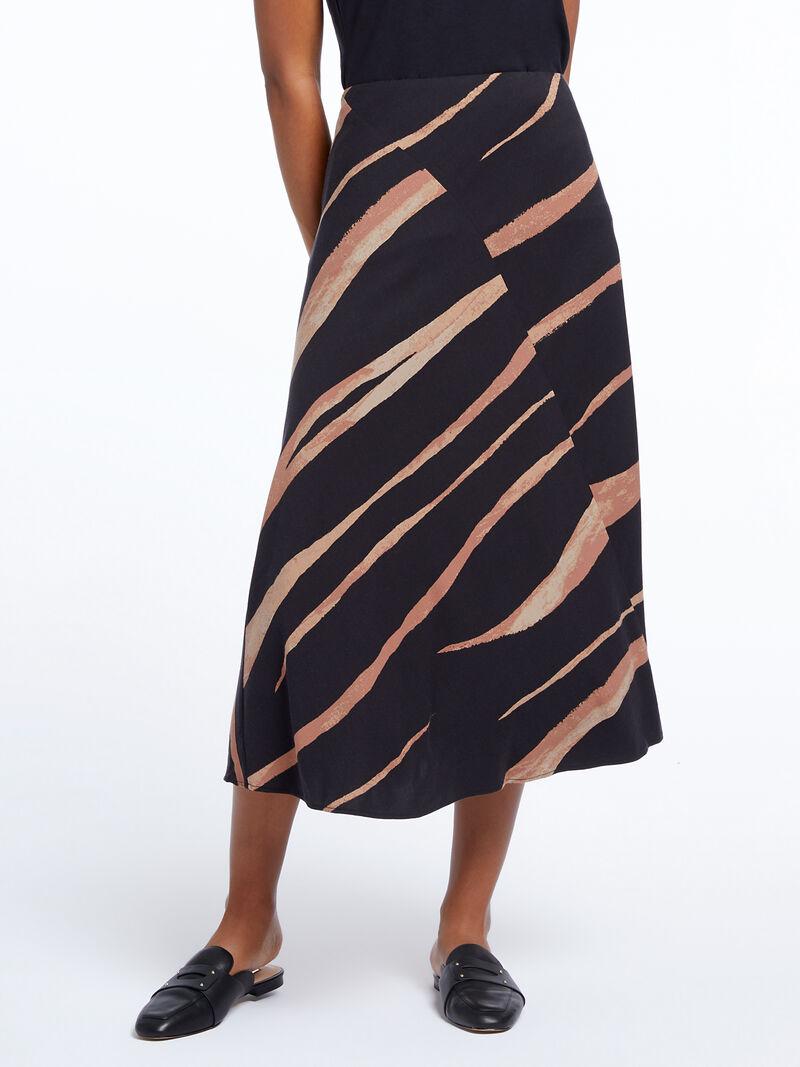 Abstract Animal Midi Skirt